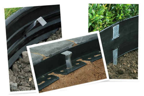 Landscape Edging Metal Stakes : Stakes landscape edging lawn paver
