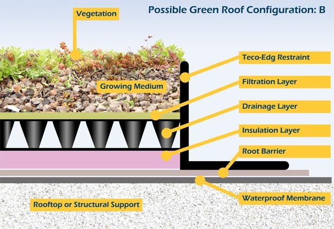 Teco-Edg Greenroof Illustration 2