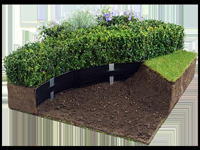 plastic lawn edging - 6 inch deep - super-edg - oly-ola
